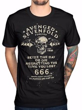 2018 Short Sleeve O-Neck Tops Tees Men 100% Cotton Official Avenged Sevenfold Seize The Day Printed T Shirts