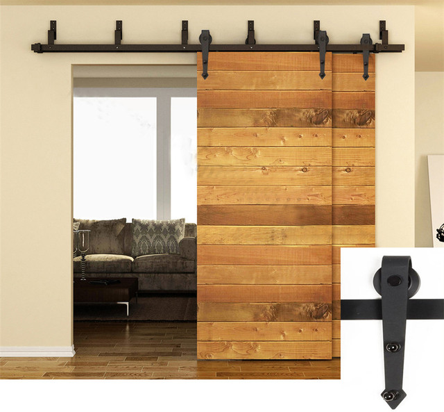 3m To 5m Arrow Design Style Bypass Sliding Barn Wood Door Hardware