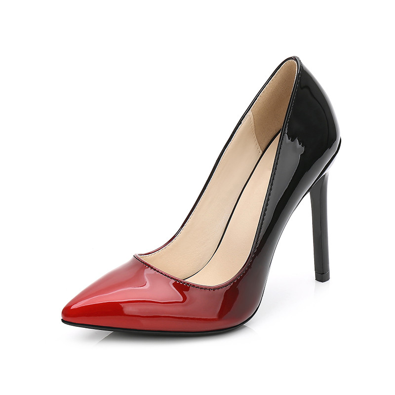 Spring Autumn High Heels Shoes Woman Elegant Thin Heel Pointed Toe Gradient  Color Women Pumps Party 40a52ce37960