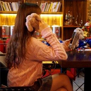 Image 5 - ثلاثية الأبعاد تدوير الأرنب الشعر الفراء قضية الهاتف لسامسونج نوت 20 الترا 10 + 9 8 S20 S8 S9 S10 زائد S7 S6 حافة أفخم زغب الغطاء الخلفي
