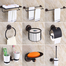 Oil Rubbed Bronze Bathroom Accessories Set Towel Shelf Towel Holder Toilet Paper Holder Wall Mounted Bath Hardware Sets(China)