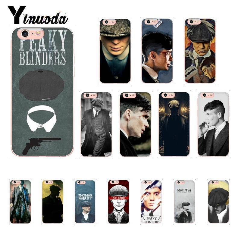 Yinuoda Sharp Visors Coque PEAKY BLINDERS Pattern TPU Soft Phone Case for iPhone 8 7 6 6S Plus X XS MAX 5 5S SE XR 10 Cover