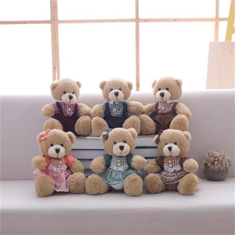 1 шт. сидя 25 см Kawaii пара несет плюшевые игрушки симпатичные мишки мягкие куклы для детей Детские Huggable игрушки для девочек подарок на день рож...