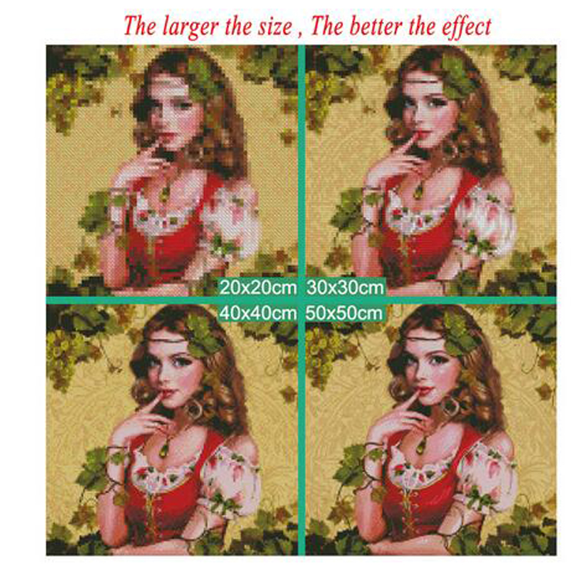 5d DIY Diamond Painting quot Egyptian woman quot Full Square Drill Mosaic Cross Stitch Diamond Embroidery home Decor Y2942 in Diamond Painting Cross Stitch from Home amp Garden