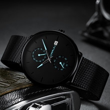 CRRJU 2019 Business Dress Quartz Watch Men Fashion Luxury Mesh Waterproof Wristwatch Mens Brand New Casual Watches Man Clock(China)
