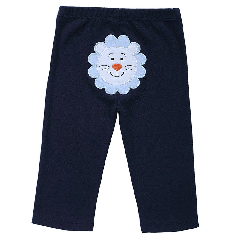 New 2016 Baby Boys Girls 3pcspack Embroidered Animals PP Pants Carter\'s Baby Leg Warm 100% Cotton Trousers Infant Clothing (2)