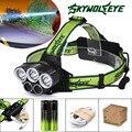 25000LM 5x XM-L T6 Farol Farol Head Light LED Recarregável USB + Bateria L61216