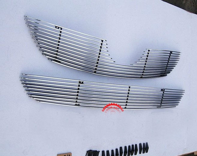 High quality stainless steel Front Grille Around Trim Racing Grills Trim For 2009-2010 Toyota Corolla