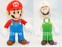 High Quality Super Mario Bros PVC Luigi/ Mario Action Figures 2Pcs/Set Best gifts For Kids