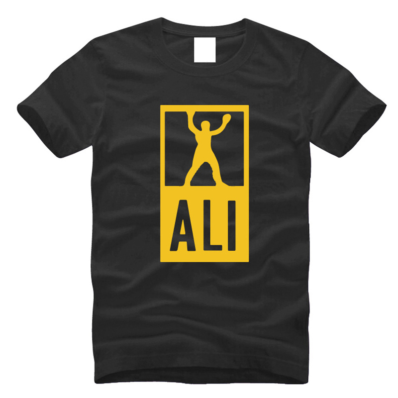 New Mens Champion Ali Print T Shirt Euro Size S 2Xl Fitness Workout Tee  Shirt 100% Cotton Stylish T Shirt Men Summer-in T-Shirts from Men s Clothing  on ... 6927950d2105