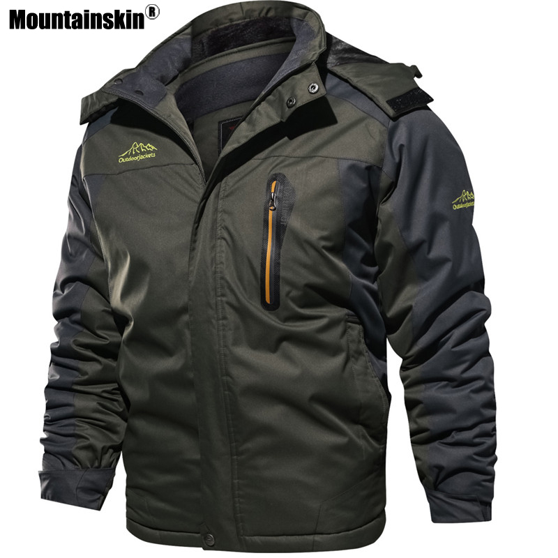 Image 2 - Mountainskin New Winter Men's Parkas Thick Fleece Warm Coat Men Jackets Hooded Coats Mens Brand Clothing Plus Size 7XL 8XL SA603-in Jackets from Men's Clothing