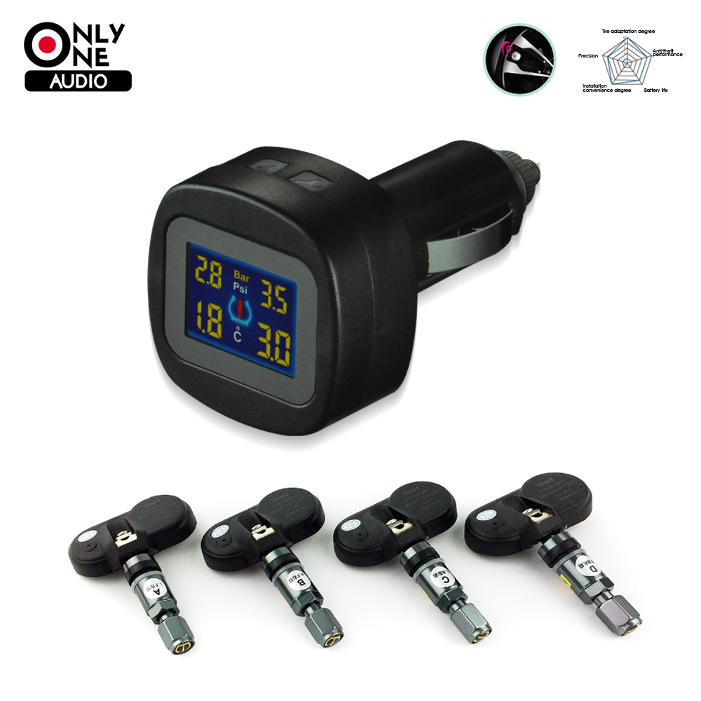 ONLY ONE AUDIO auto car wireless font b TPMS b font tire pressure alarm system font