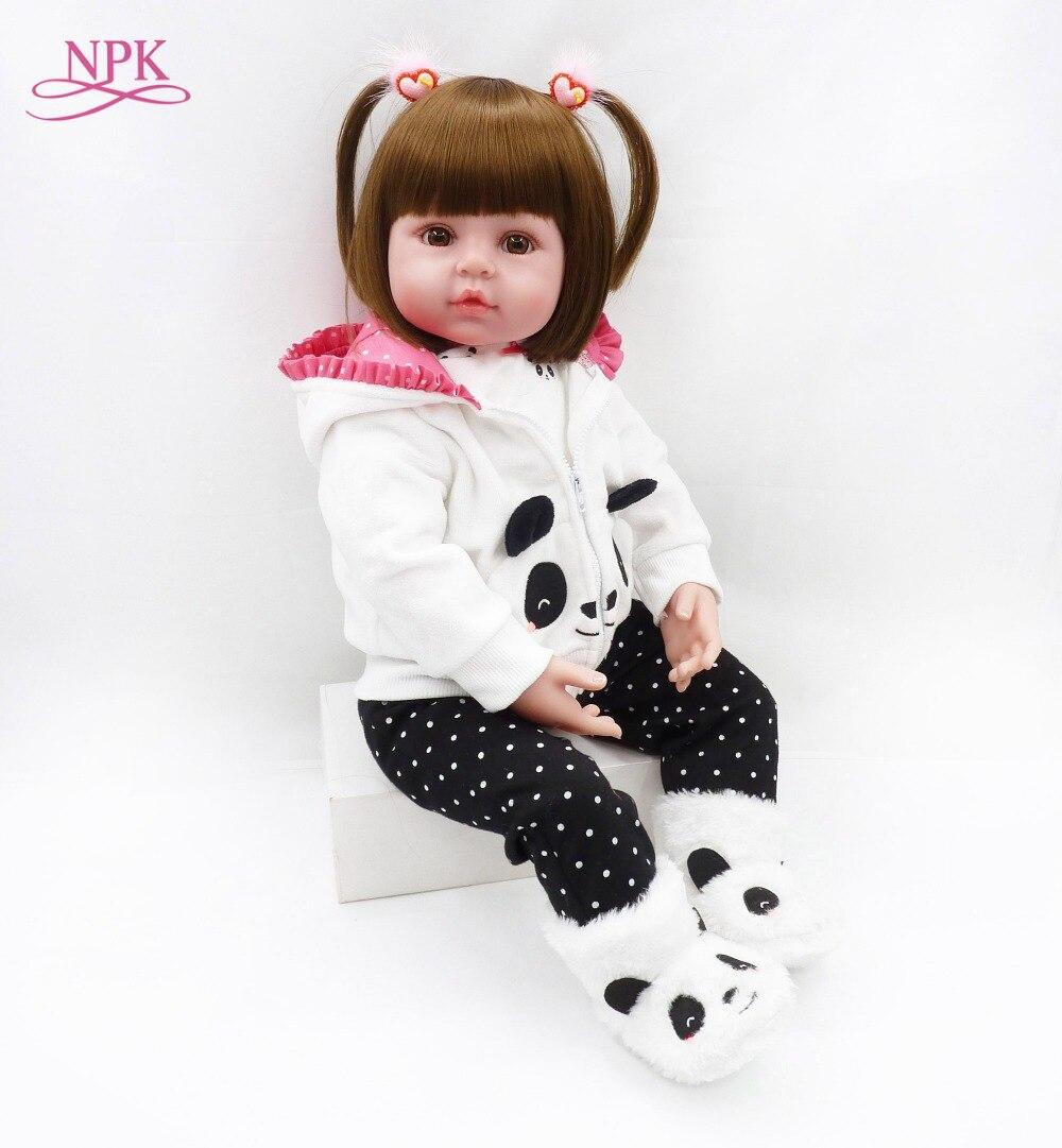 NPK 48 cm reborn bébé jouet poupées souple silicone vinyle reborn bébé fille poupées bebes reborn bonecas jouer maison jouets enfant plamates