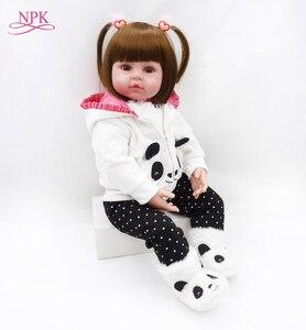 Image 2 - NPK 48cm reborn baby toy dolls soft silicone vinyl reborn baby girl dolls bebes reborn bonecas play house toys child plamates