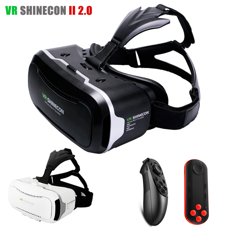 2016 Leather VR Shinecon 2 0 ii 3D VR Glasses Virtual Reality font b Headset b