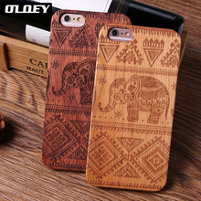 OLOEY For iPhone 5 5S 6 6S 7 7Plus 8 8Plus X XS Max Elephant Wood Case SAMSUNG Galaxy S7 Edge S8 plus S9 Plus Fundas