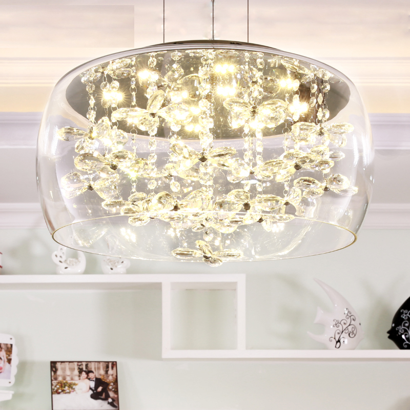 Furnishings brief modern K9 crystal flower pendant light fixture European fashion home deco living room DIY glass pendant lamp furnishings brief modern k9 crystal flower pendant light fixture european fashion home deco living room diy glass pendant lamp