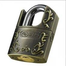 Высокий Класс Безопасности Защиты От Угона Нержавеющей Двери Мотор Велосипед Замок Склада Медь Ретро замки с 3 ключами