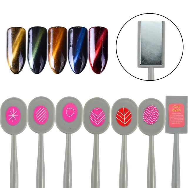 1pc Nail Art Magnet DIY Tool 3D Cat Eye Effect Nail Wave Heart Design Pro Brush Pen Equipment for Nail Gel Polish Manicure BE406