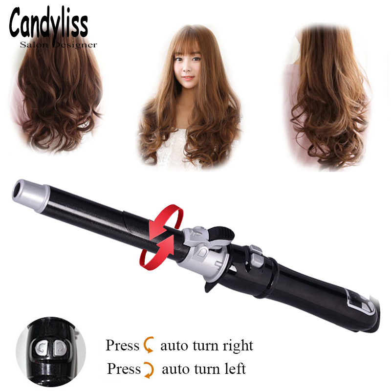 Dual Voltage Hair Curler LCD Display Automatic Hair Curlers Professional Ceramic Hair Curling Iron Wave Hair Styling Tools new hair curler steam spray automatic hair curlers digital hair curling iron professional curlers hair styling tools 110 240v