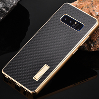 Luxury Original Real Carbon Fiber Cover Metal Frame Case For Samsung Galaxy Note 8 Case Cover Hard Full Protection Phone Cases