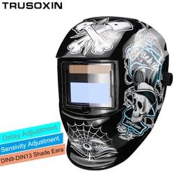 New Solar LI <font><b>battery</b></font> Automatic Darkening TIG MIG MMA MAG KR KC Electric Welding Mask/Helmets/Welder Cap for Welding Machine