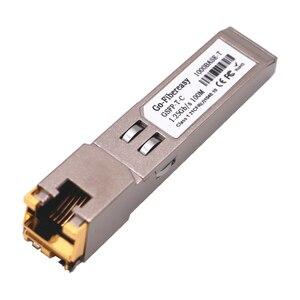 Image 3 - SFP RJ45 Gigabit Modulo 1000Mbps TX SFP RJ45 Interruttore di Rame Modulo Compatibile con Cisco/Mikrotik SFP In Fibra Ottica Gigabit Modulo