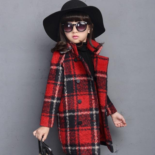 a23e16e3a Nuevos niños chaquetas para niñas lana invierno otoño niño niña abrigos  Chaqueta Nina Niñas Ropa 6GCT148