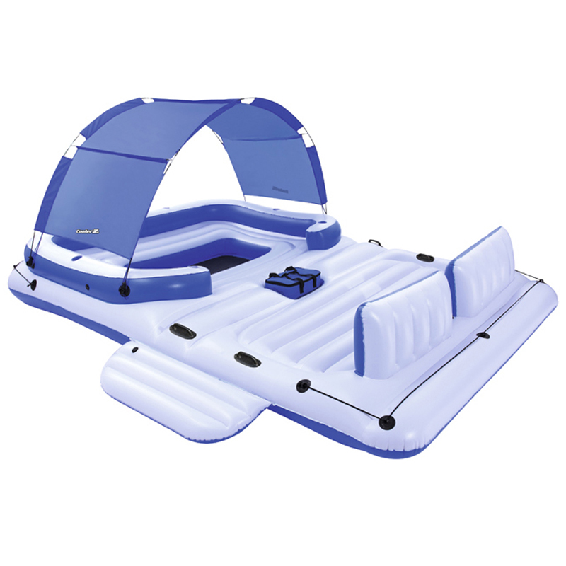 Sunshade Boat Floating Bed Oversized 6-8person Inflatable Floating Sea Drifting Adults Home Floating Row Sunshade Floating Bed
