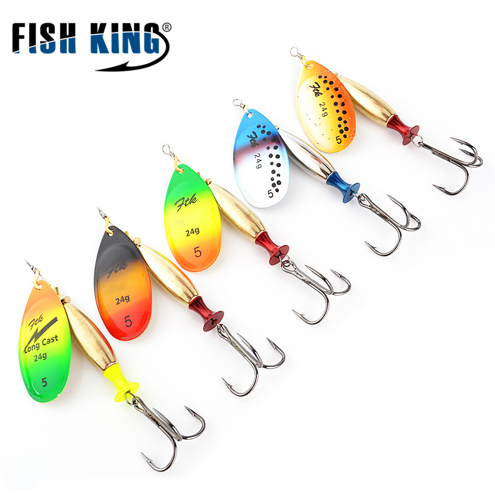 Fish king ftk mepps long cast 1 pc fishing lure spinner for How to make a fishing spinner