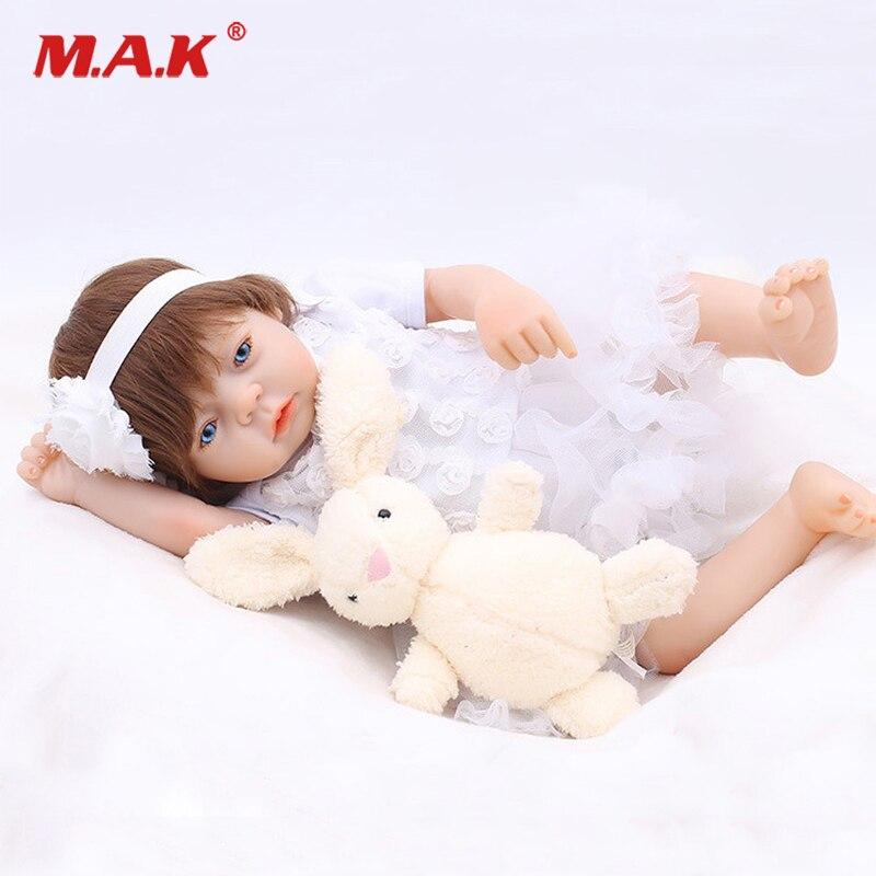 50 CM Bady Nweborn doux Silicone poupée réaliste mignon enfant en bas âge princesse Bonecas Bebe Reborn BlueMenina Collection cadeau pour enfants