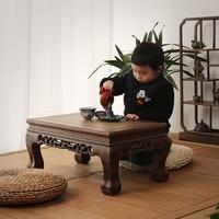 Mahogany furniture wooden wood table table Kang several windows carved antique tatami platform