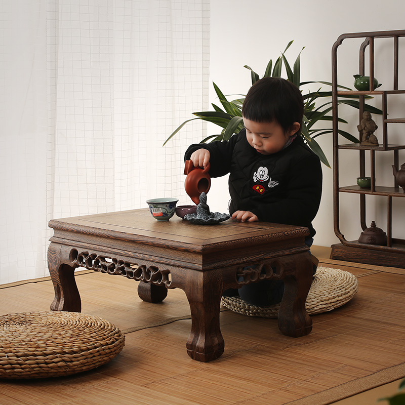 Mahogany furniture wooden wood table table Kang several windows carved antique tatami pl ...