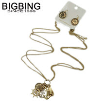 BIGBING fashion jewelry set fashion golden anchor Earrings Necklace jewelry set high quality free shipping S327(China)