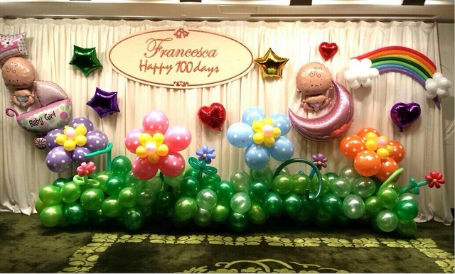 One Hundred Years Old Baby Childrens Birthday Tianbai Aluminum Balloons Package Party Background Wall Decoration