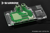 Barrow RGB Full Cover Graphics Card Water Cooling Block BS ASI1070 PA For ASUS GTX1070 8G