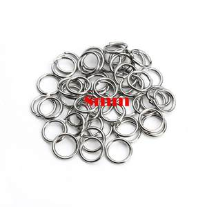 ZALEBABA 200pcs/lot Stainless Steel Mix Ring Connectors