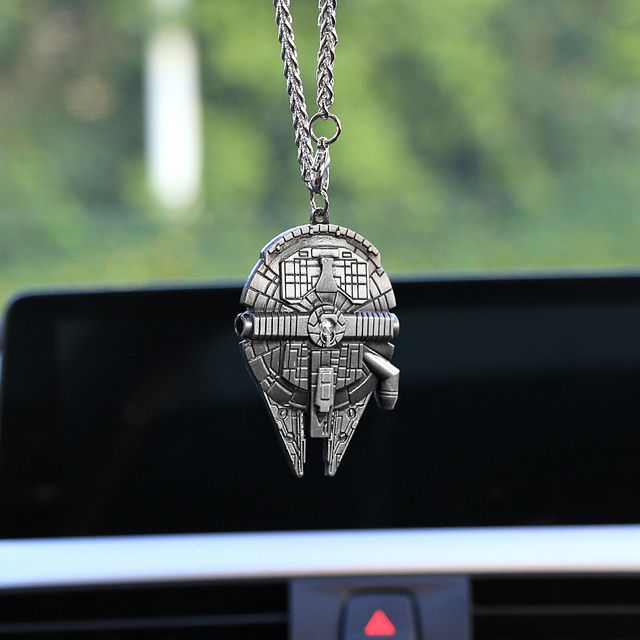 Car Pendant For Star Wars Flying Ship Auto Rearview Mirror Hanging