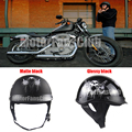 Hot Sales Shorty Half Motorcycle Helmet Open Face Biker Skull Glossy Matte Black DOT Approved Helmet Unisex