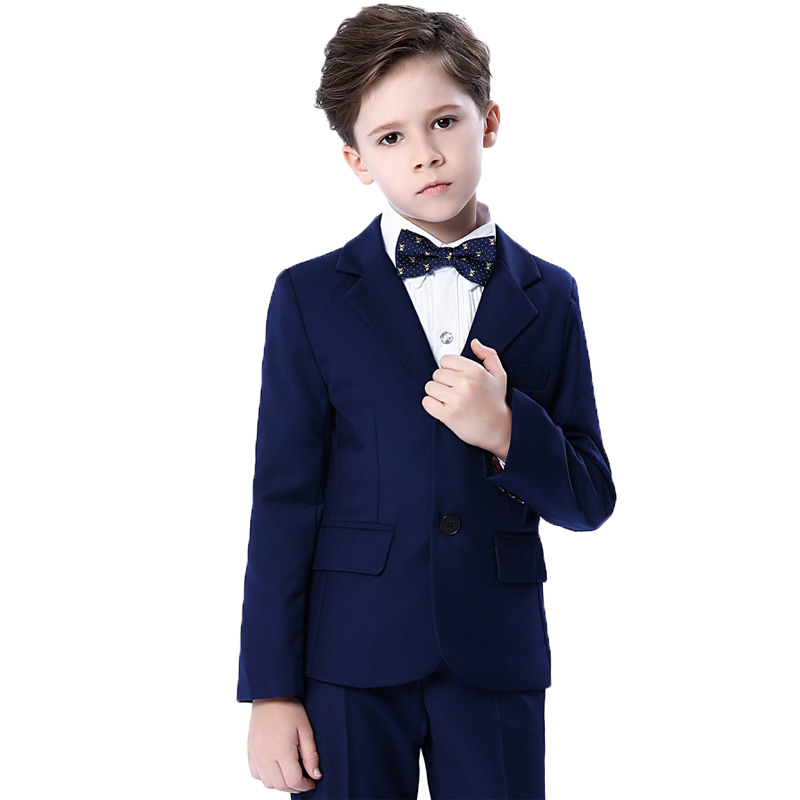 Wedding Suits Sets For Flower Boys Child Formal Tuxedos Dresses Outfits Kids Blazer Shirts Pants Bowtie