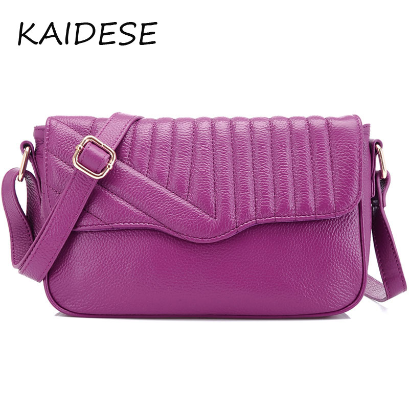 KAIDESE 2017 new fashion handbags leather satchel and the first layer of cross section shape of small red handbag bag qiaobao 2018 new korean version of the first layer of women s leather packet messenger bag female shoulder diagonal cross bag