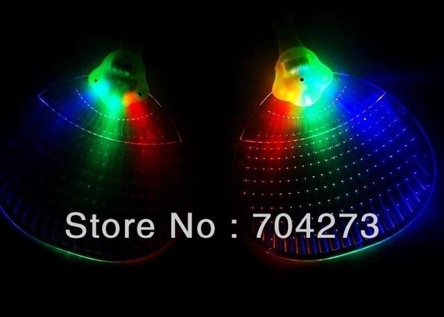 free shiping+ led colorful hand fan/ led fan/ led toys