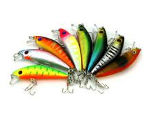 8pcs 8.1g/7cm Hard Minnow Fishing Lures Bionic Bait Lifelike Swimbaits Crankbaits Treble 6# Hook All Position Tackle PRO BEROS