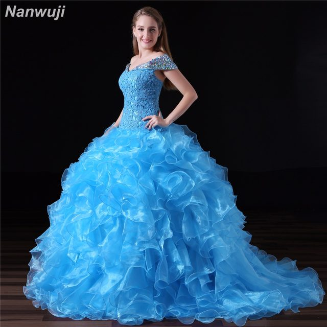 Online Shop Puffy Quinceanera Dresses 2018 Sweetheart Top Beading ...