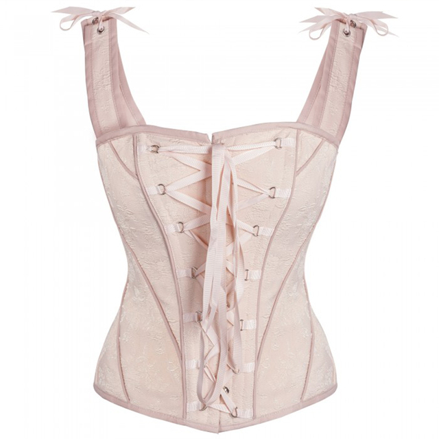 6bf416c2a 2017 New Vintage Victorian Steampunk Corset 14 Steel Bones Cotton Overbust  Corset Waist Trainer Corsets and Bustiers Corselet