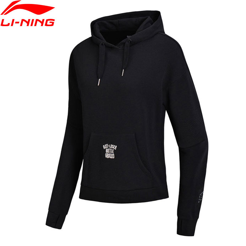 Li-Ning Women Basketball Sweater PO Knit Hoodie 59% Cotton 41% Polyester Loose Fit LiNing Comfort Sport Tops AWDN022 WWW969