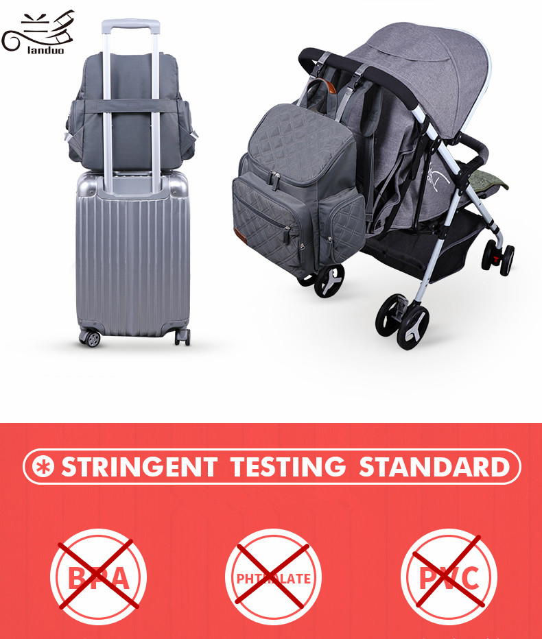 HTB1FjQZRrrpK1RjSZTEq6AWAVXaz LAND Mommy Diaper Bags Mother Large Capacity Travel Nappy Backpacks with changing mat Convenient Baby Nursing Bags MPB37