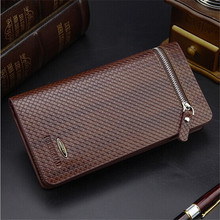 M51 2015 Fashion Men Genuine Leather Business High Quality Famous Brand Wallet Luxury High capacity Multifunction