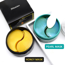 JM Under Eye Patches Anti Aging Mask 60 sheets Green Pearl / Black Honey Multi Functional Full Face