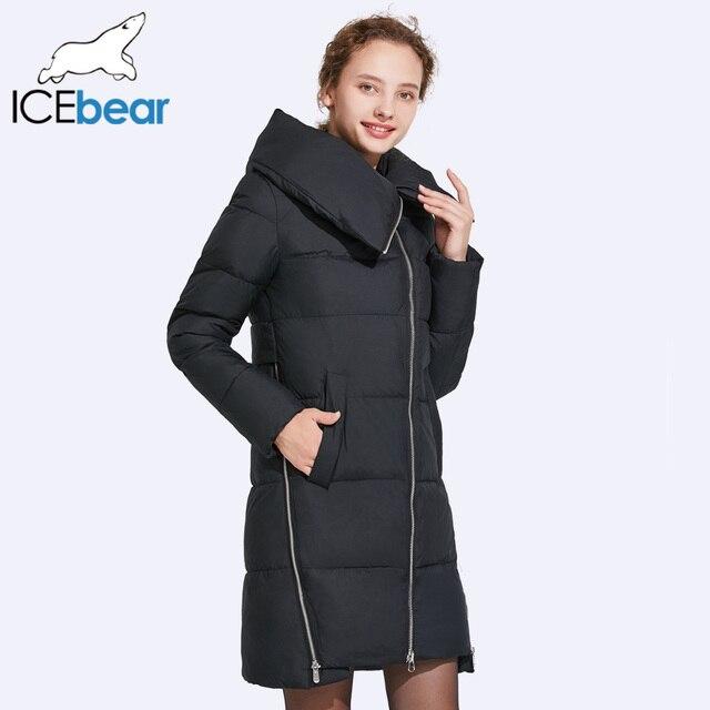 ICEbear 2017 женские зимние Куртки и Пальто и пуховики сбоку-Sway молнии Дизайн молния может быть открыт качество ткани 17G6191D